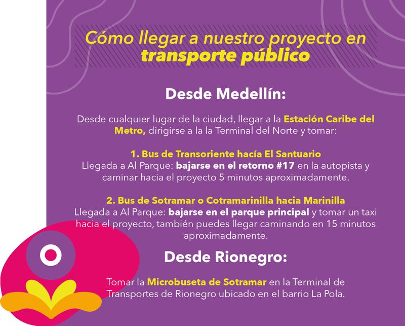 Rutas de buses cercanas al Proyecto Al Parque · Marinilla, Antioquia